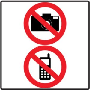 Telefones e Cameras não são aceites nos clubes de Swing e Saunas Liberais